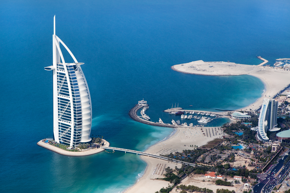 Burj al Arab and Sea