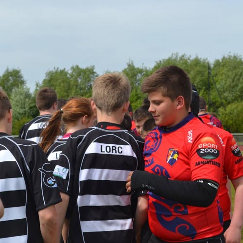 Lille Rugby Festival Handshake